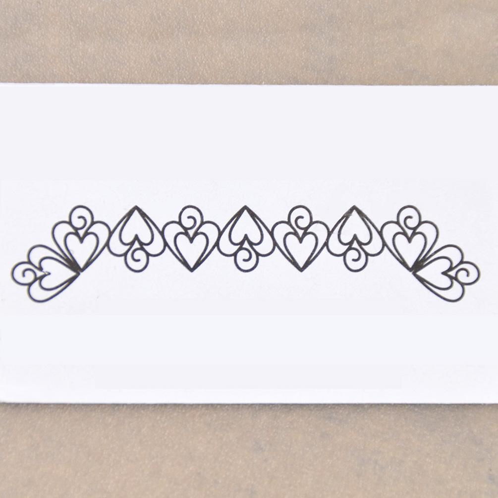Malen Schablonen Spirale Stickerei Herz Rahmen Linien Scrapbooking ...
