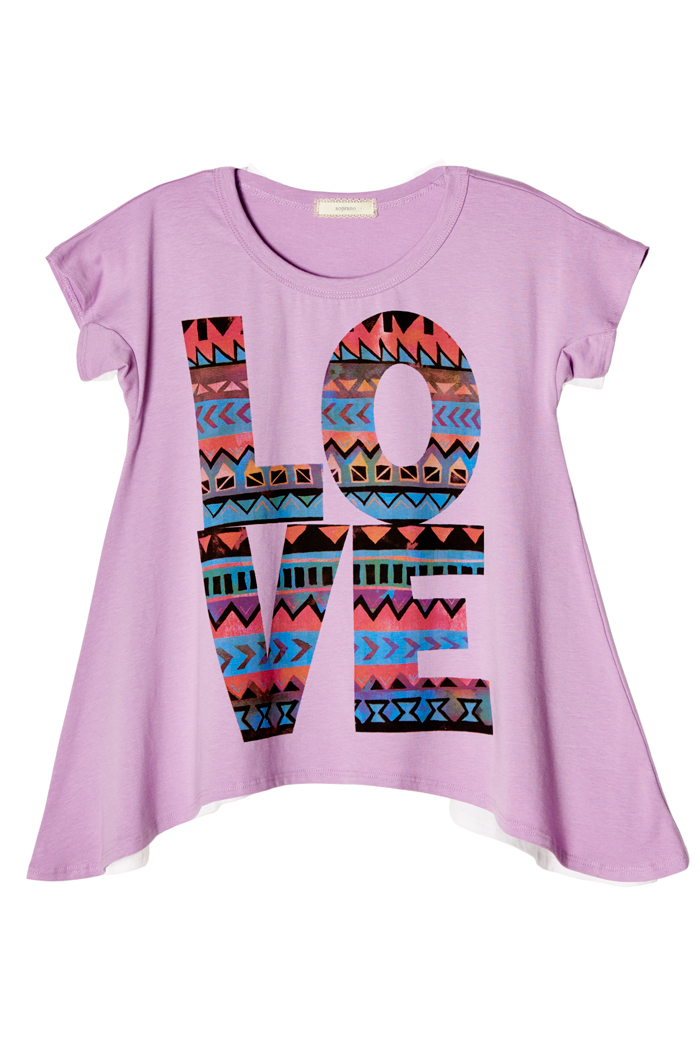 Big girls kids colors love graphic tee t shirt top usa ebay for Graphic t shirts for kids