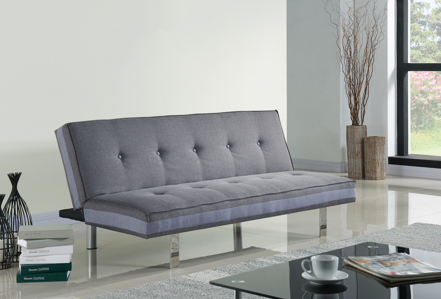 Das Bild Wird Geladen EBS Schlafsofa Sofabett 3 Sitzer Sofa Klappsofa Grau
