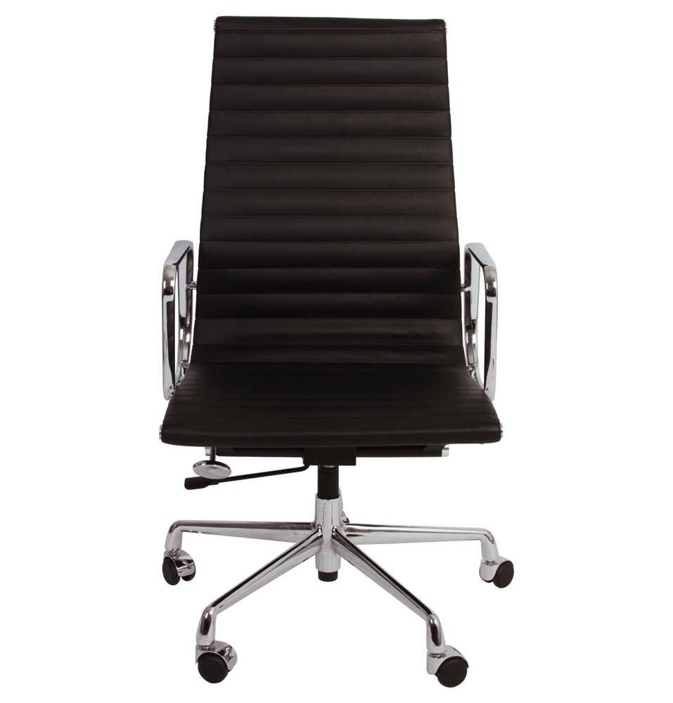 Eames Style Aluminum Group Executive Chair Black EBay