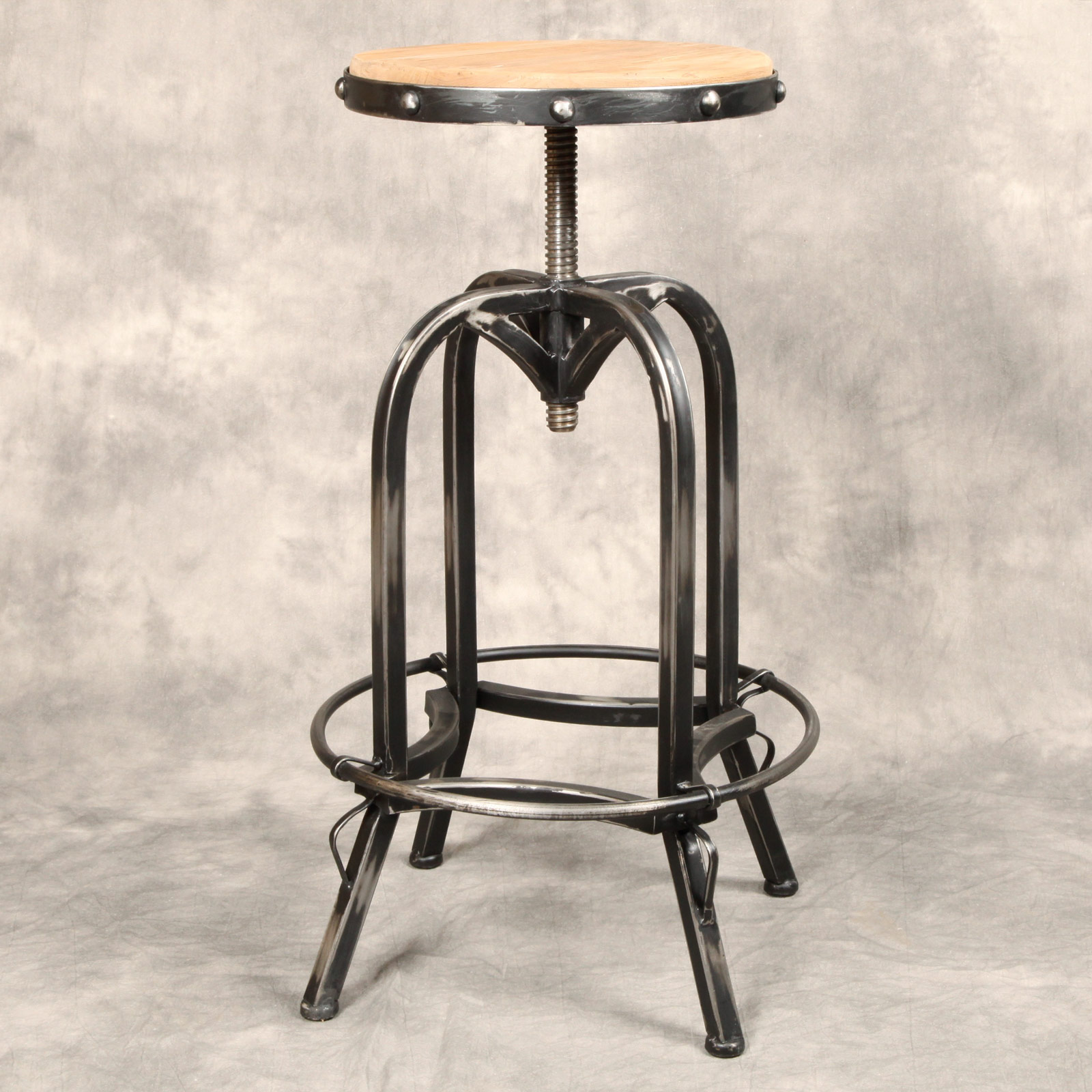 Industrial Antique Iron Bar Stool Reclaimed Wood Seat eBay : pv nhdt nobs1frnt from www.ebay.com size 1600 x 1600 jpeg 354kB