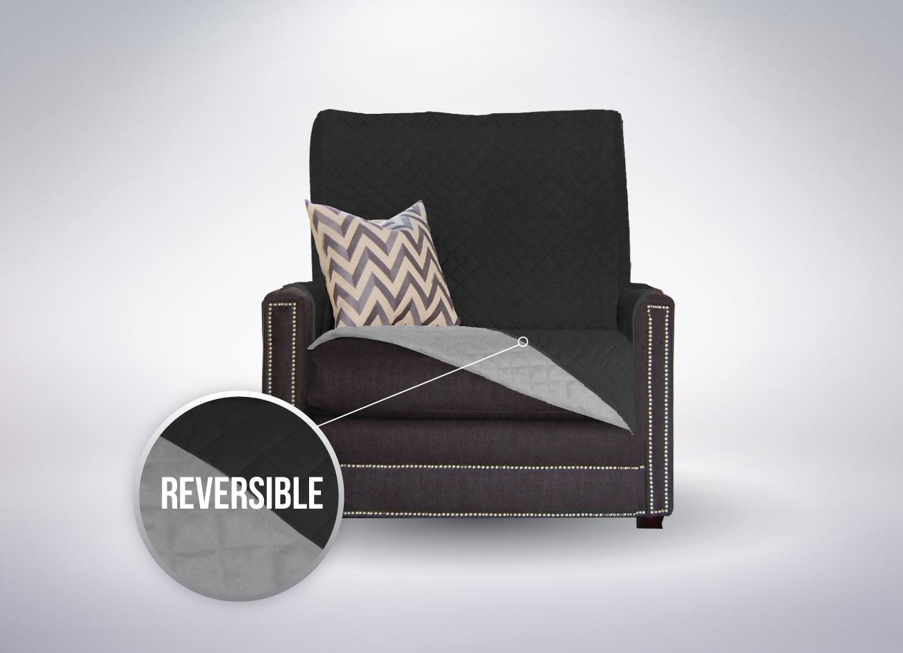 The Original SOFA SHIELD Sofa Protector 4 Sizes  : chair black main from www.ebay.co.uk size 1300 x 941 jpeg 163kB