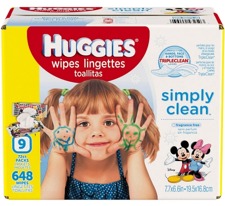 Huggies Simply Clean Baby Wipes, Unscented, Refill (Packaging May Vary), 648