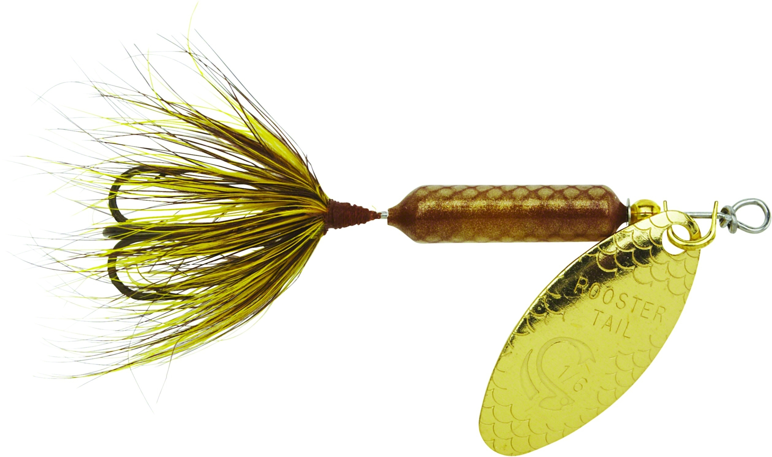Wordens 208 gh rooster tail 1 8oz grasshopper fishing lure for Rooster tail fishing lure