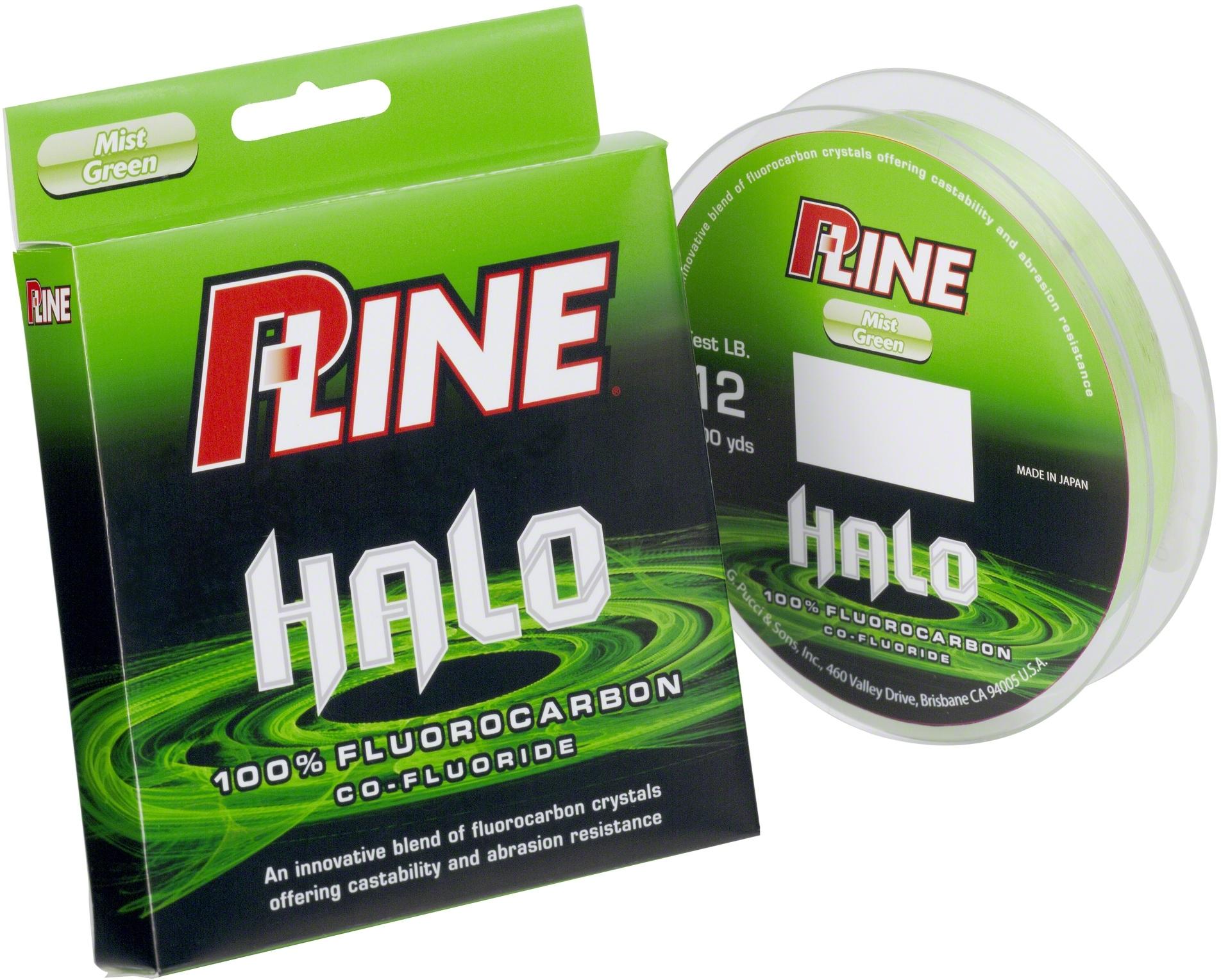 P-Line HF200-15 Halo Fluorocarbon 15Lb 200Yds Mist Green Fishing Line