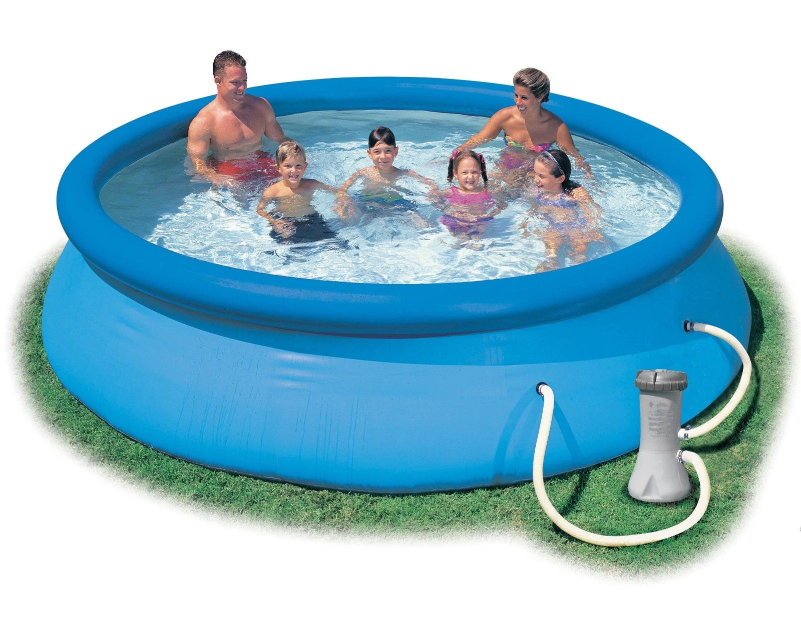 Intex 12 39 x 30 easy set above ground swimming pool for Aspirateur robot intex