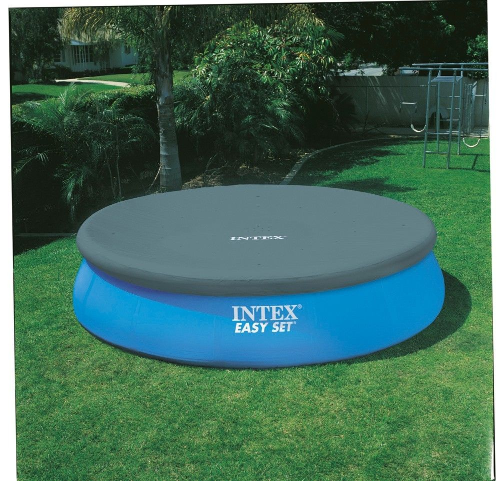 Intex 15 x 48 easy set above ground swimming pool w 1000 for Piscine gonflable intex easy set
