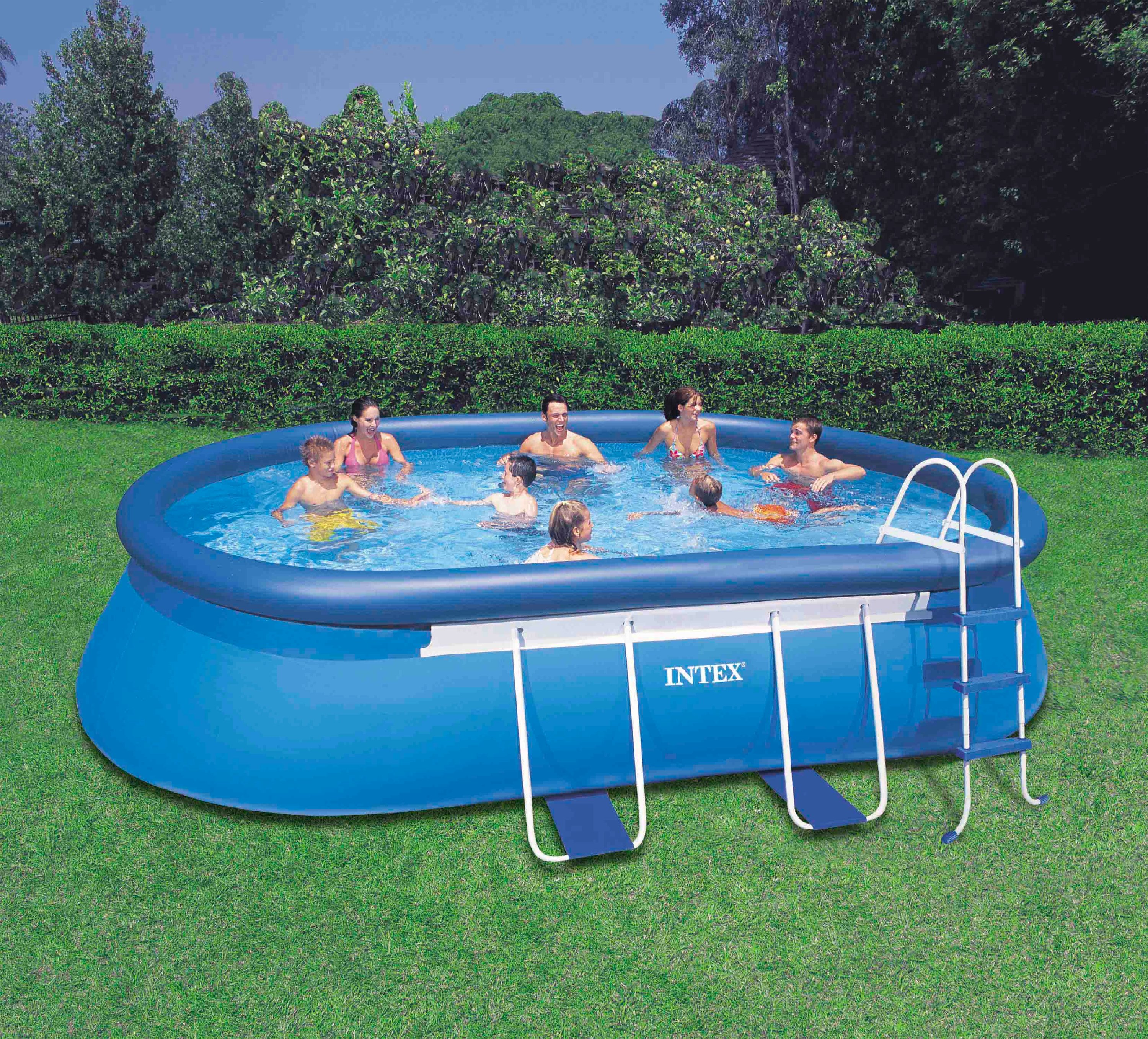 intex 18 x 10 x 42 oval frame pool set with 1000 gph filter pump 28191eh