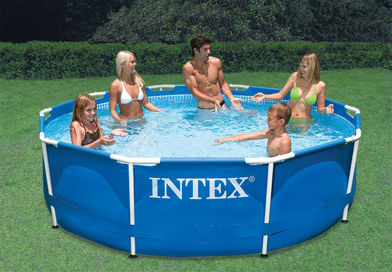 intex 10 x 30 metal frame swimming pool with 330 gph filter pump 28201eh