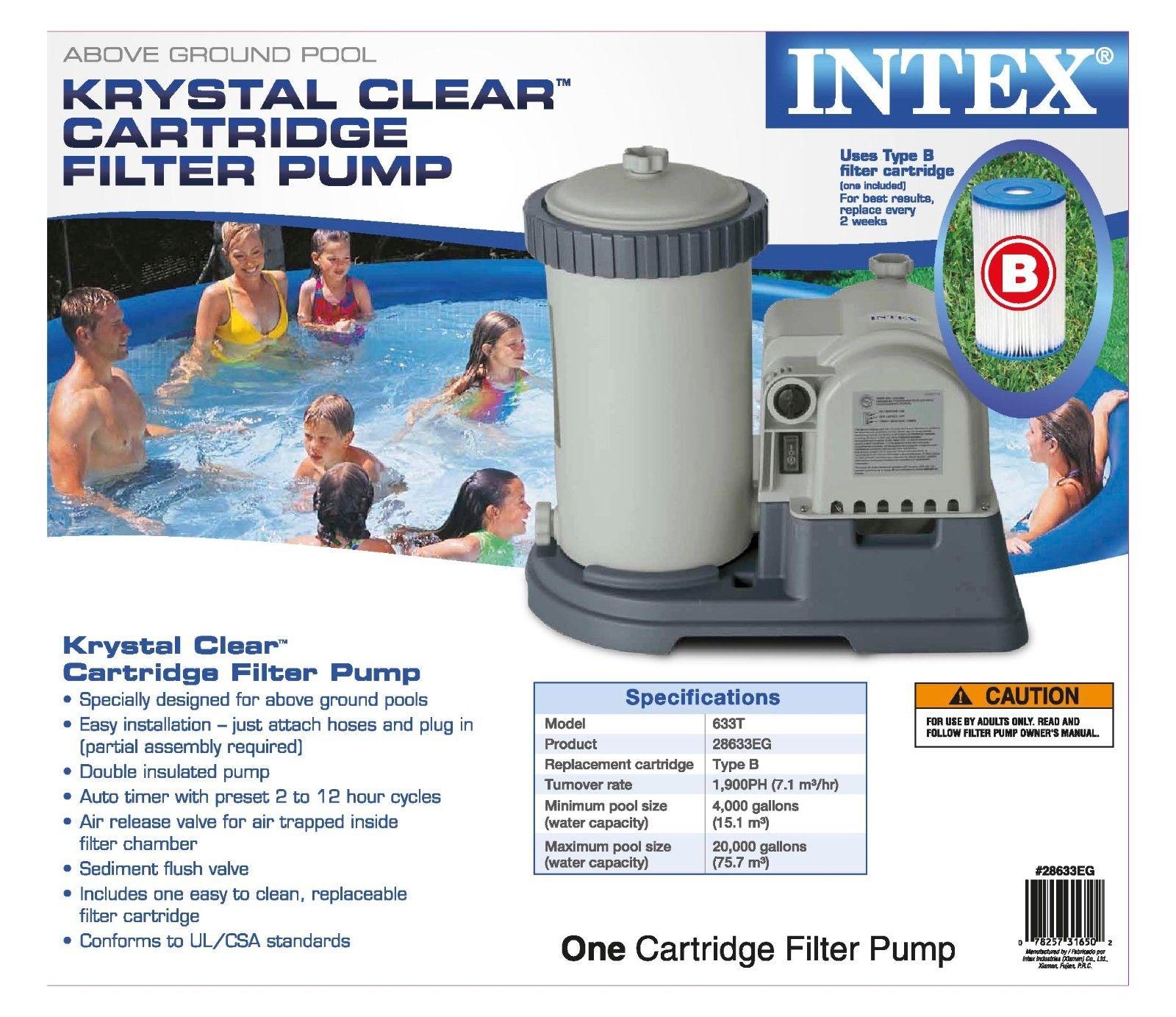 Intex Pool Plumbing : Intex gph krystal clear gfci pool filter pump with