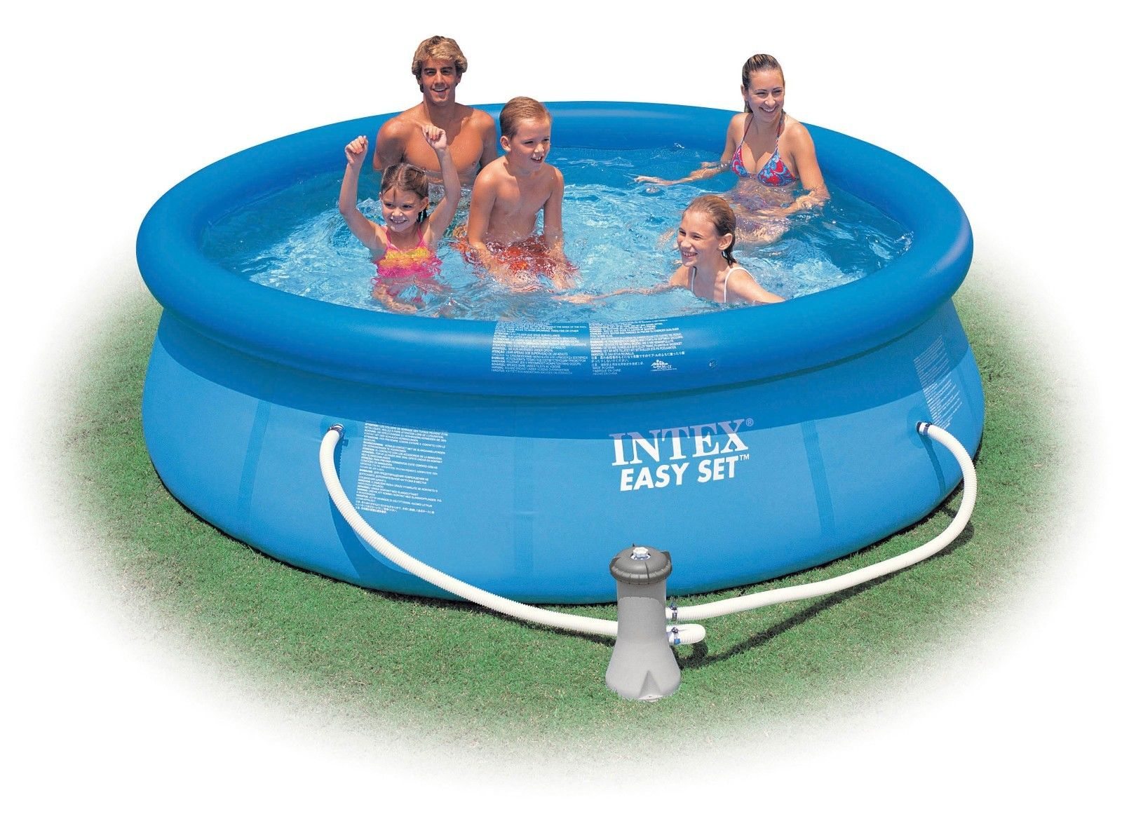 Intex 10 x 30 easy set above ground swimming pool w 530 for Intex pool handler