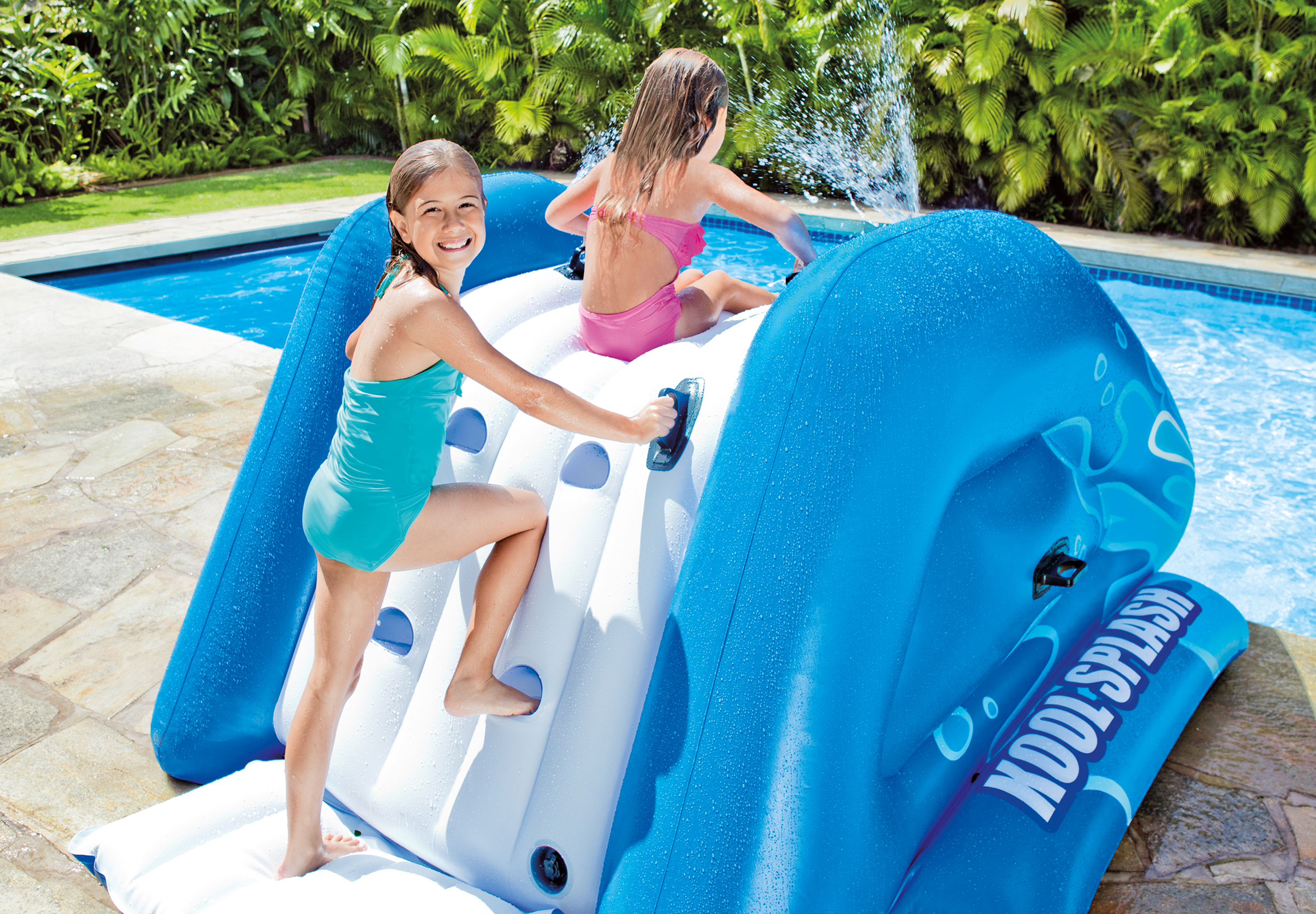 Inflatable Pool Slide Intex intex kool splash kids inflatable swimming pool water slide