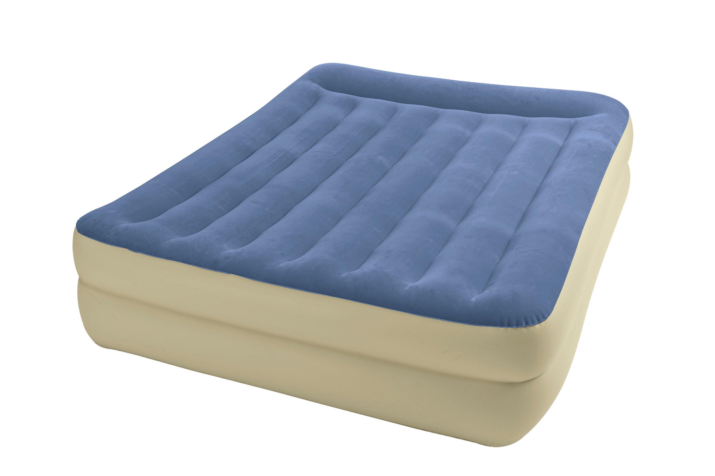 Intex Queen Pillow Rest Raised Airbed Air Mattress Guest Bed W Pump Model 67713e Ebay