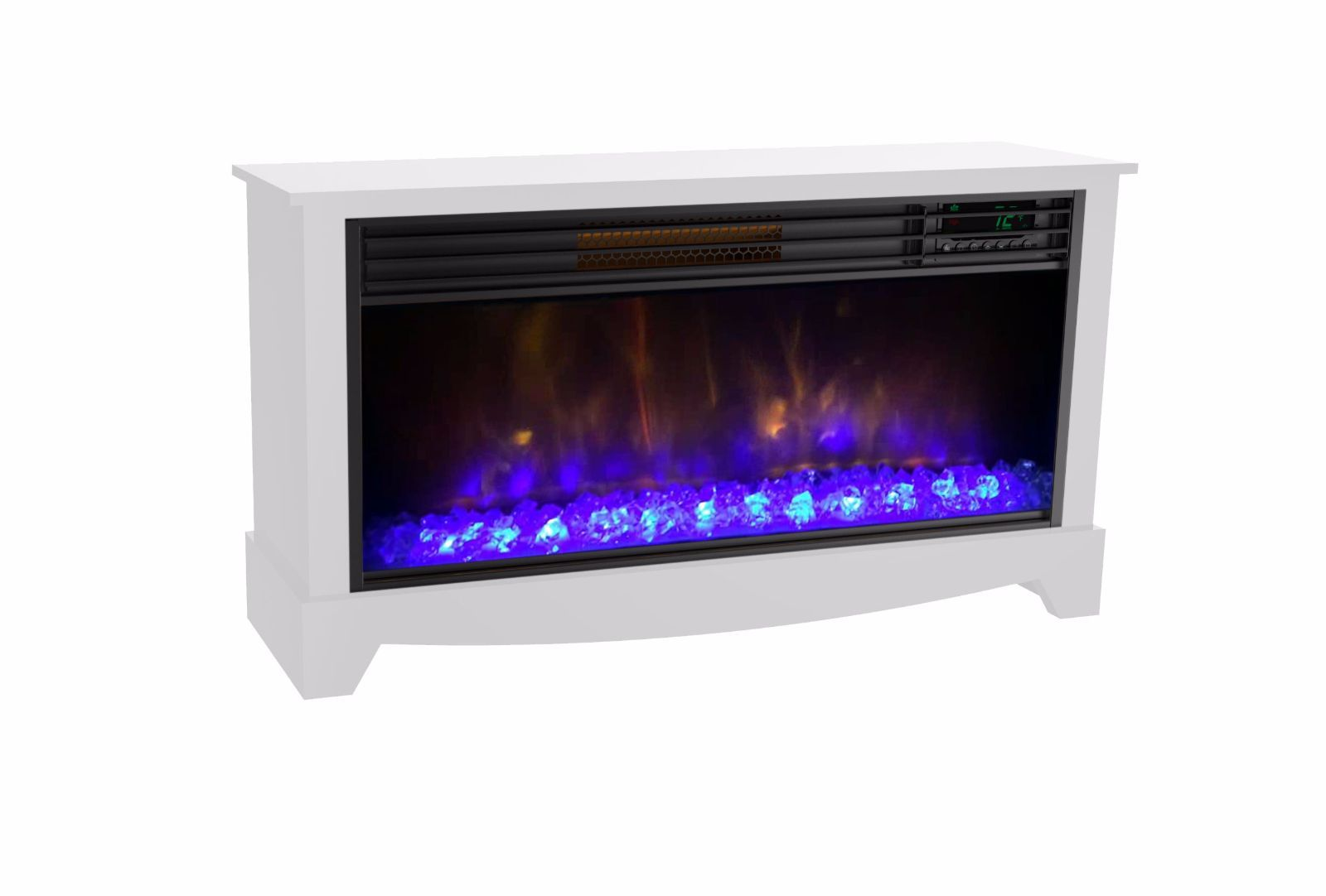 lifesmart lifezone electric infrared media fireplace room