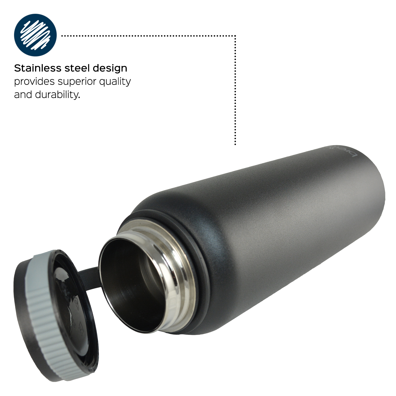 Stainless Steel Insulation : Brewberry insulated stainless steel sports water bottle