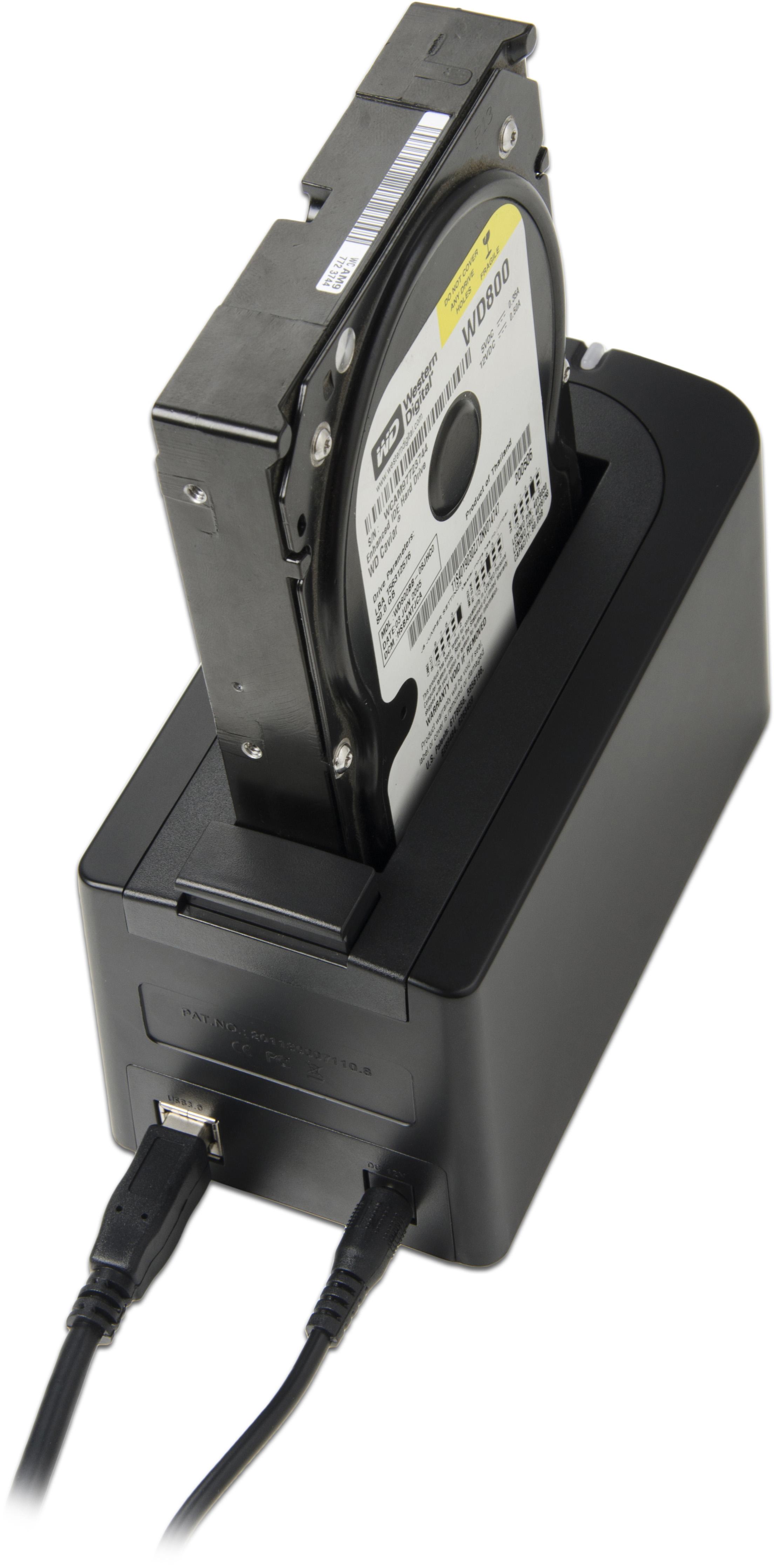 sabrent usb 3 0 to sata external hard drive docking station ds ublk ebay. Black Bedroom Furniture Sets. Home Design Ideas