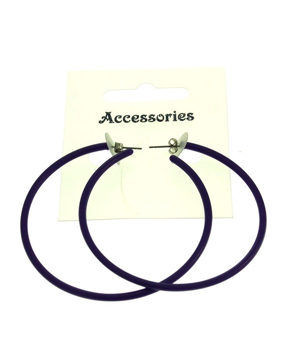 Zac/'s Alter Ego® Plastic Hoop Neon Earrings for Fancy Dress 80s// Pop// Clubbers