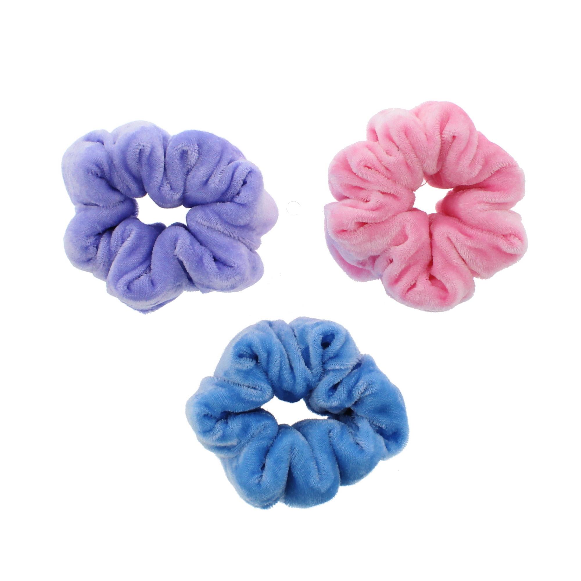 Zac/'s Alter Ego Set of 3 Luxury Velvet Donut Scrunchies