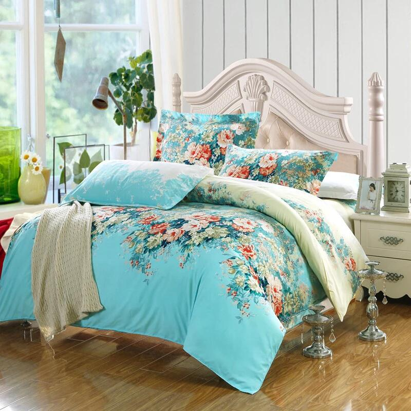 duvet quilt cover cotton bedding set w pillow case twin queen king super king ebay. Black Bedroom Furniture Sets. Home Design Ideas