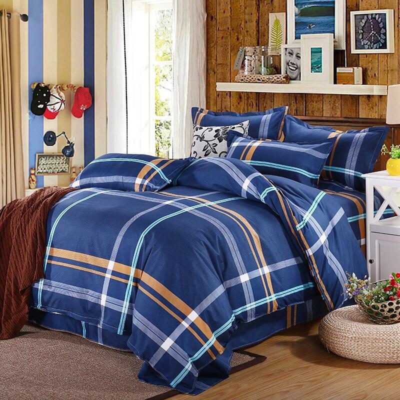 duvet quilt cover w pillow case cotton bedding set twin queen king super king ebay. Black Bedroom Furniture Sets. Home Design Ideas