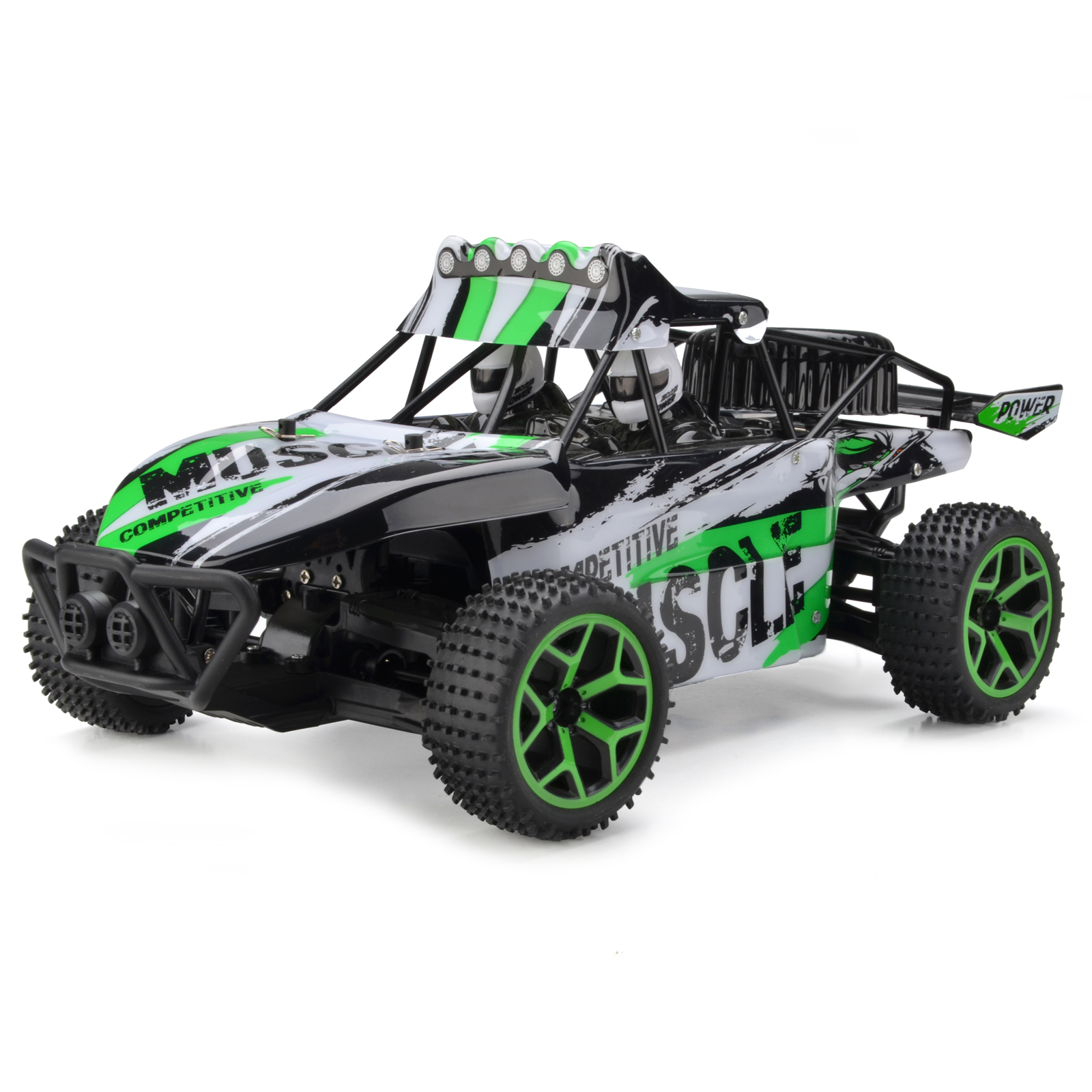Zhencheng 4WD 1/18 Scale RC Truck Off-Road High Speed Car Buggy Toy SUV Green