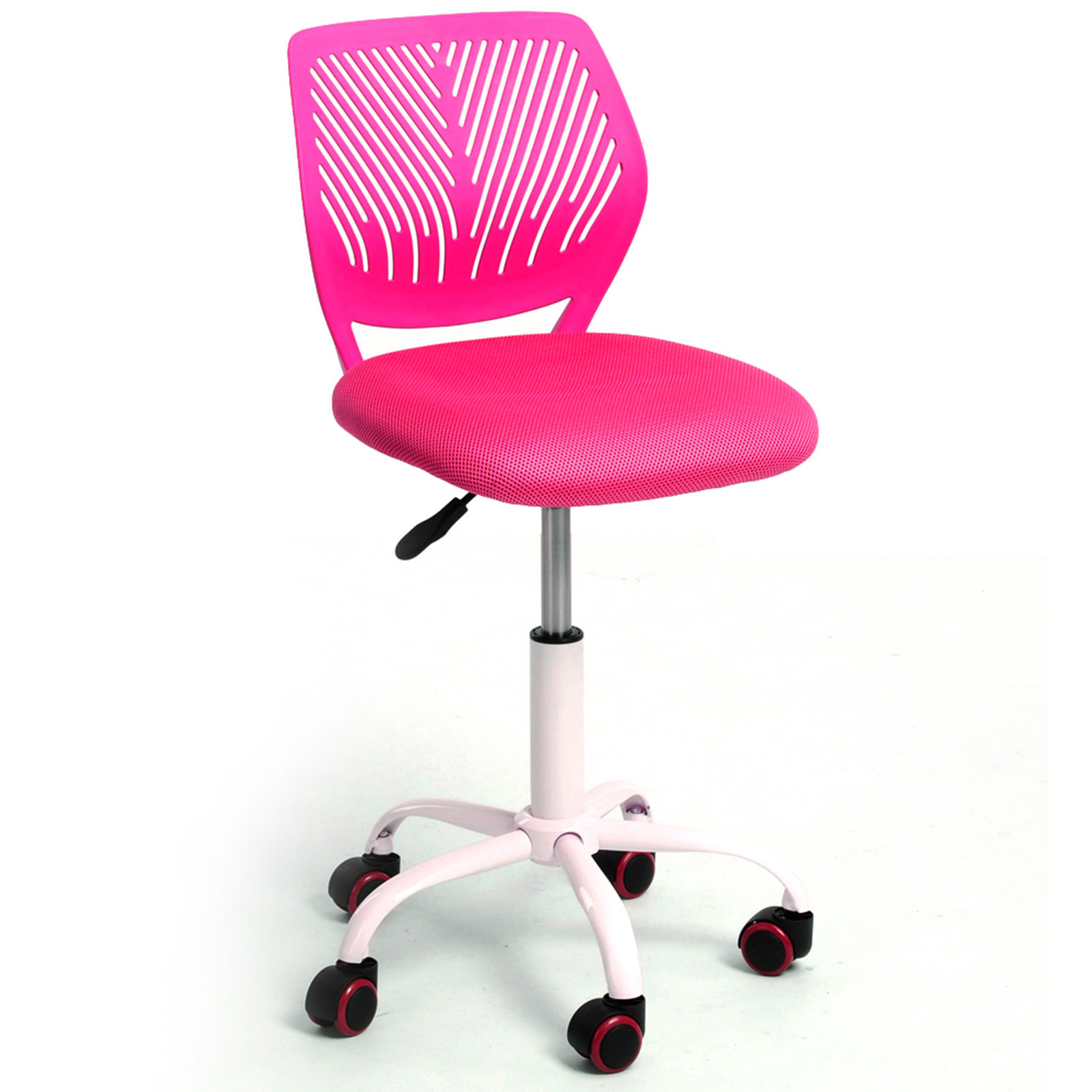 Pink ergonomic mesh computer office chair desk midback kid for Best desk chair for kids