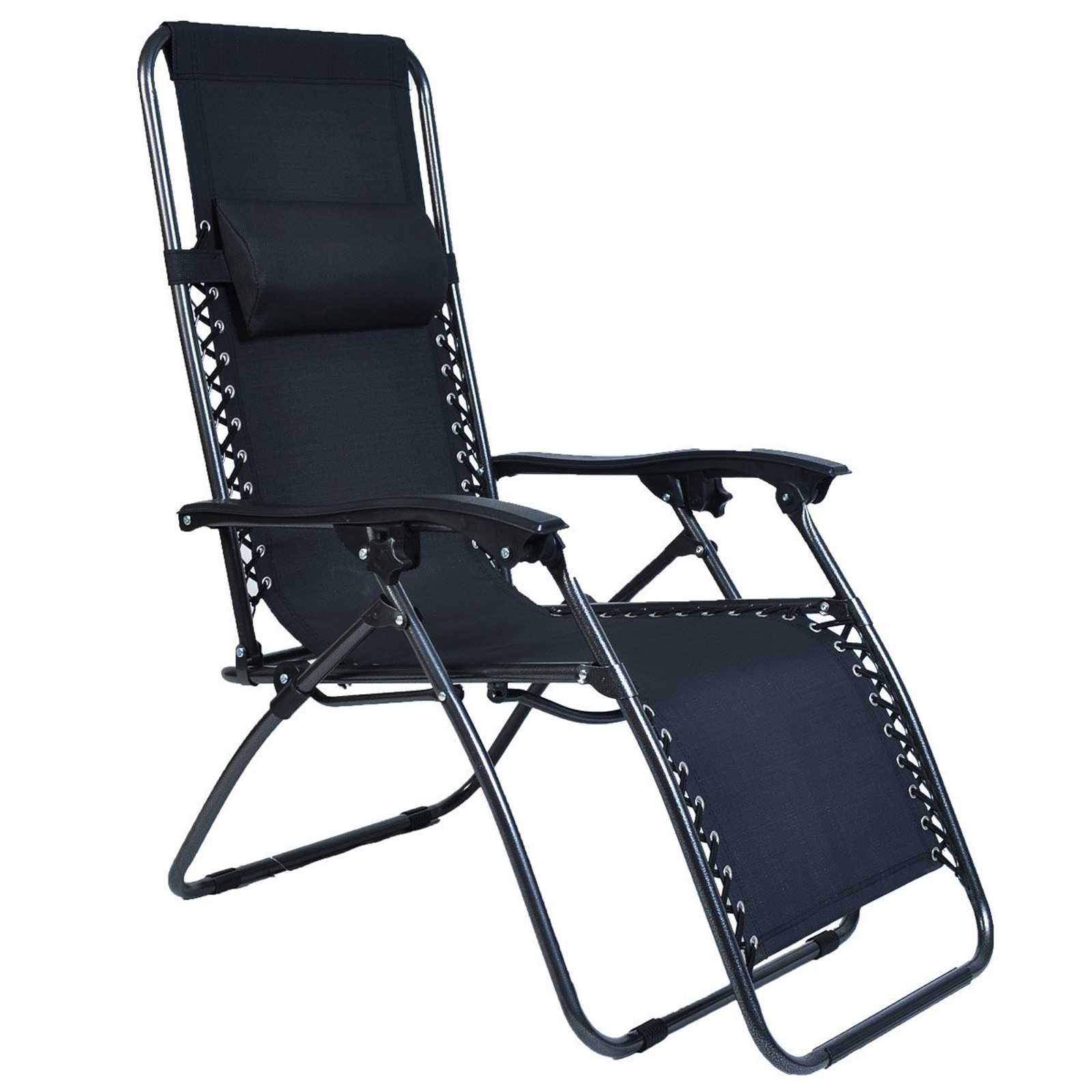 Zero folding patio outdoor lounge gravity chair recliner for Garden lounge chairs