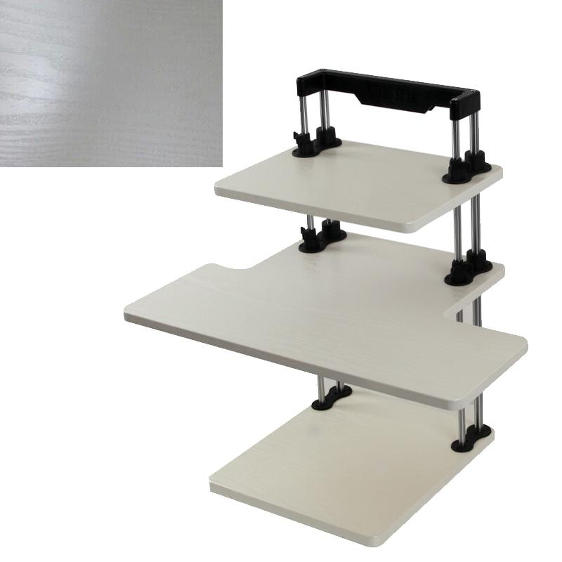 Ergonomic 3 Tier Adjustable Height Sit Stand Up Desk