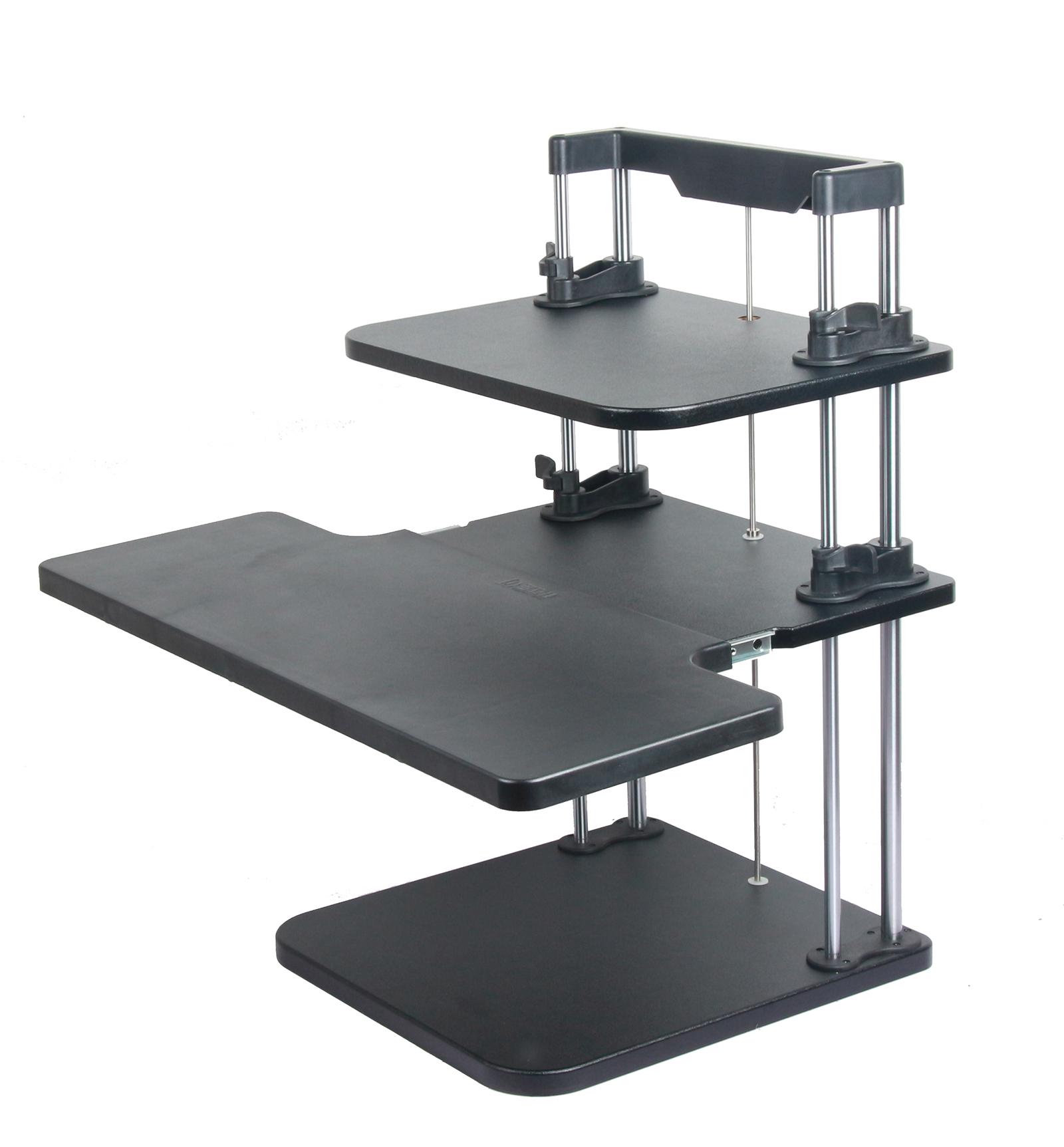 height width adjustable computer laptop standing desk sit stand up desk office ebay. Black Bedroom Furniture Sets. Home Design Ideas