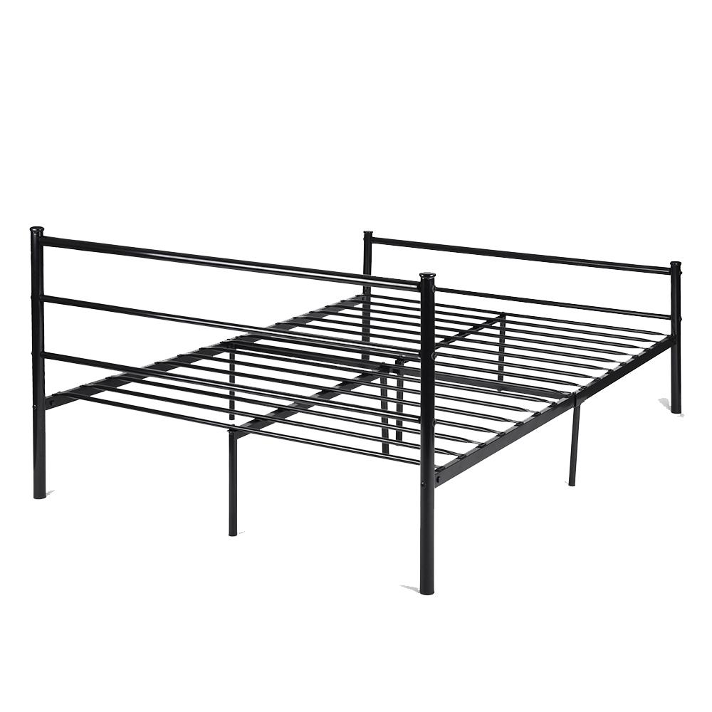 Platform Metal Bed Frame Foundation Headboard Furniture