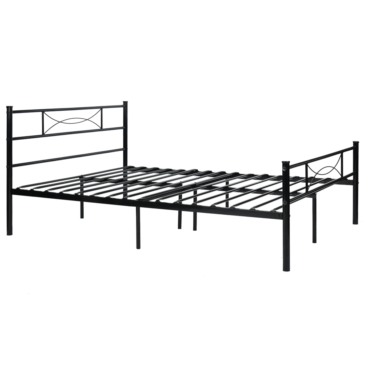 Platform metal bed frame foundation headboard furniture Metal bed frame twin