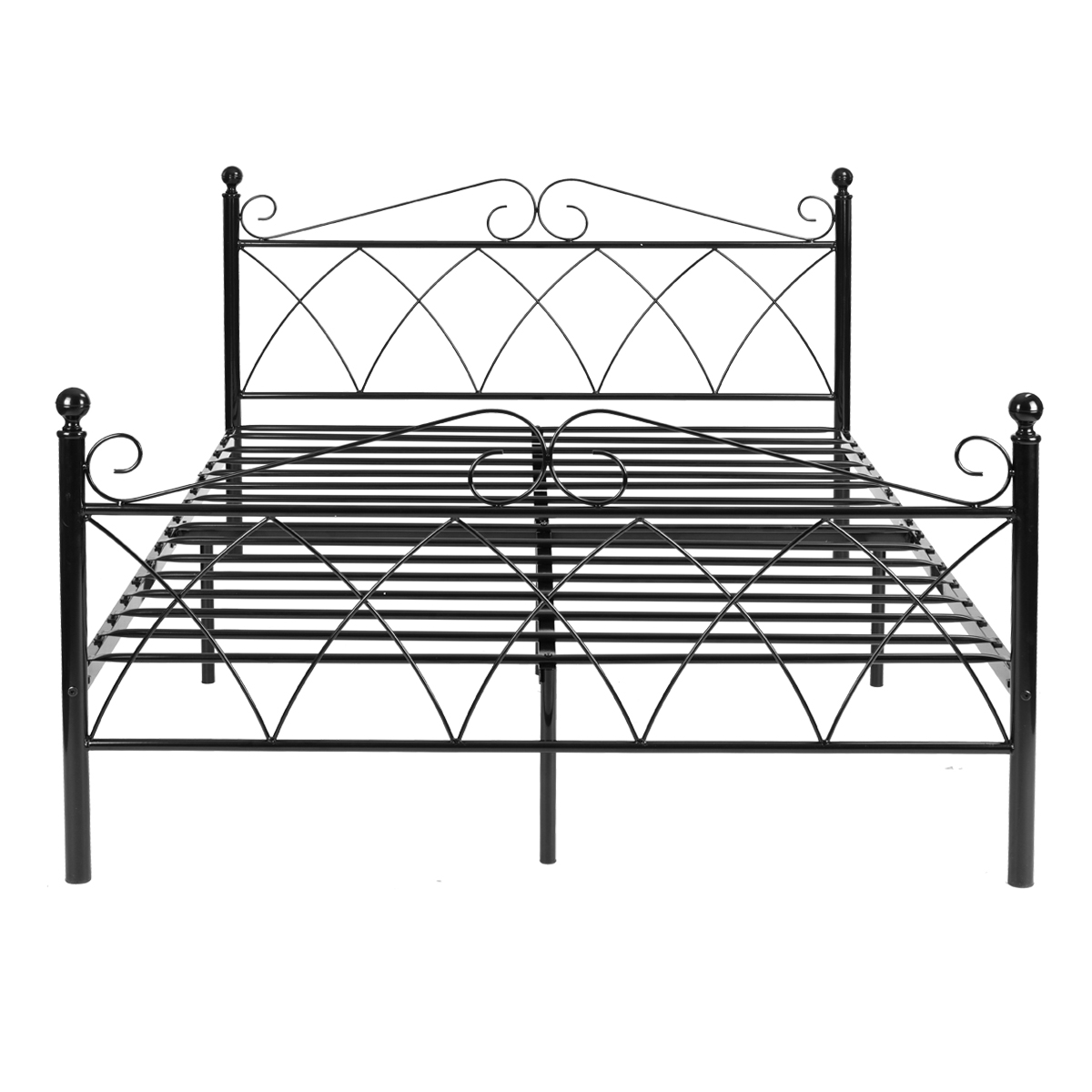 platform metal bed frame foundation headboard furniture bedroom - Metal Bed Frames Twin