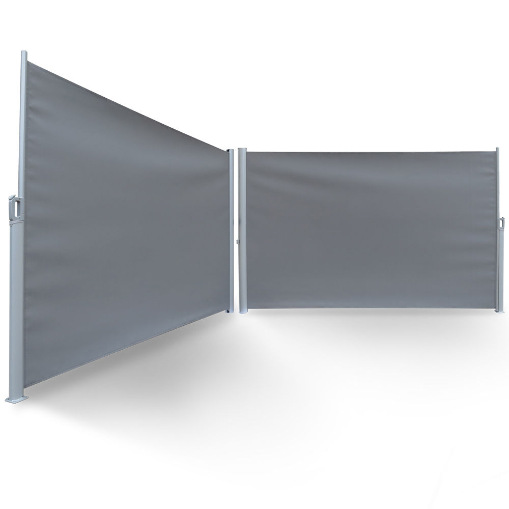 Patio Retractable Folding Screen Privacy Divider With Steel Pole 5 9 39 X9 8 39 Ebay