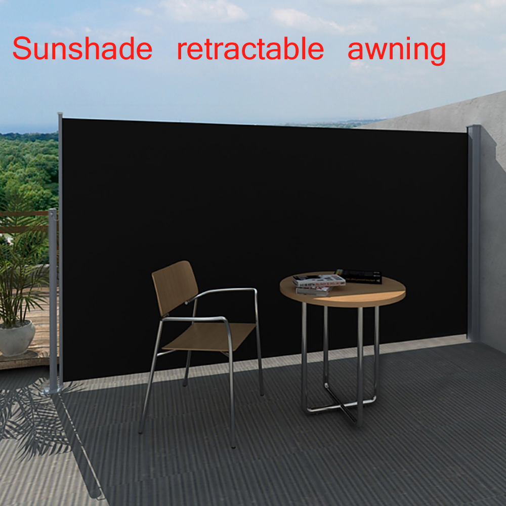 5 9 39 x9 8 39 sunshade outdoor patio retractable awning side for Retractable patio screens