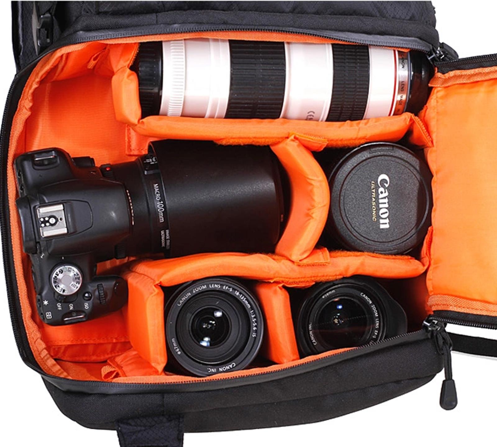 dslr waterproof camera backpack bag case for canon nikon sony weather cover ebay. Black Bedroom Furniture Sets. Home Design Ideas