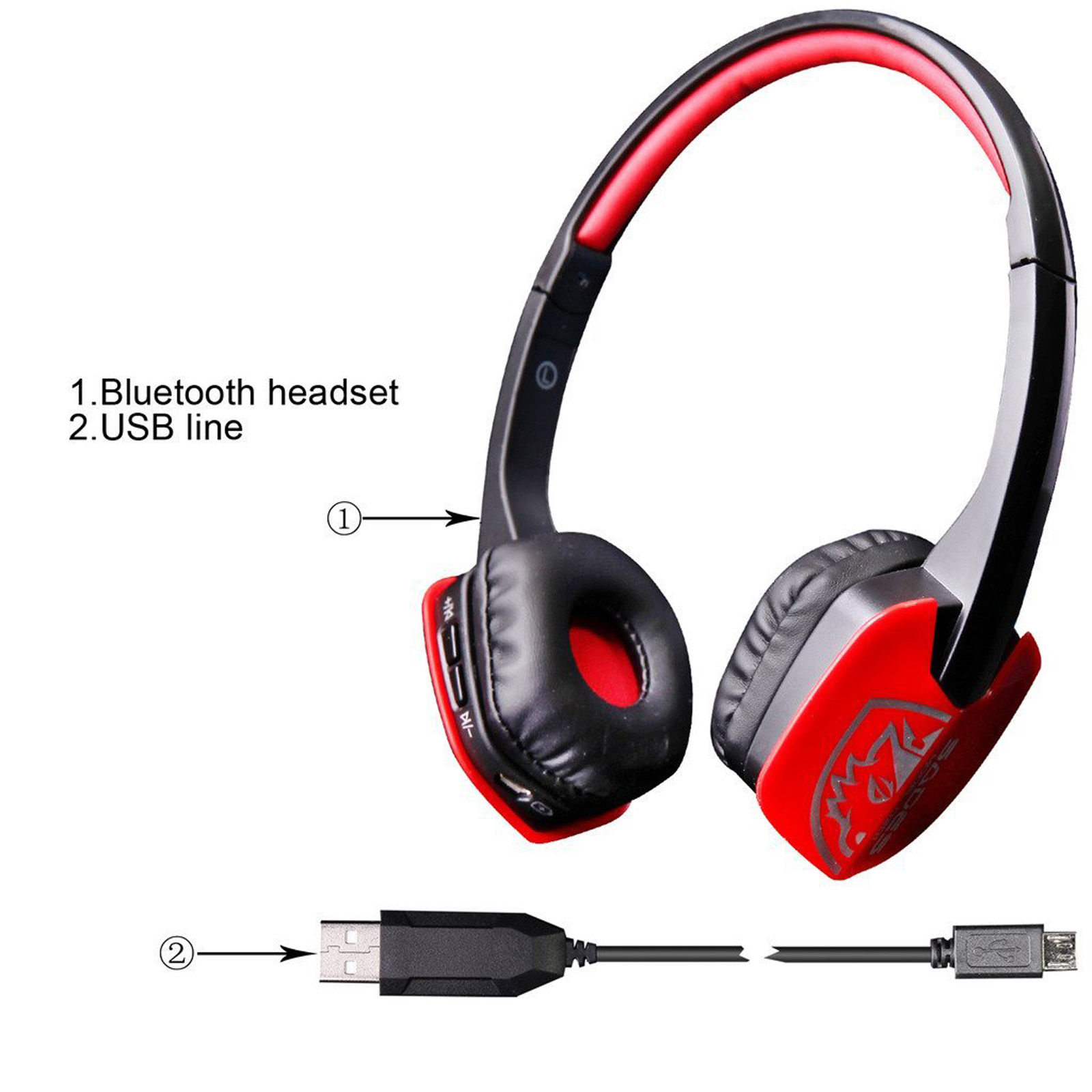 Sades Stereo Wireless Bluetooth Gaming Headset Headphone With Mic For PC Phone