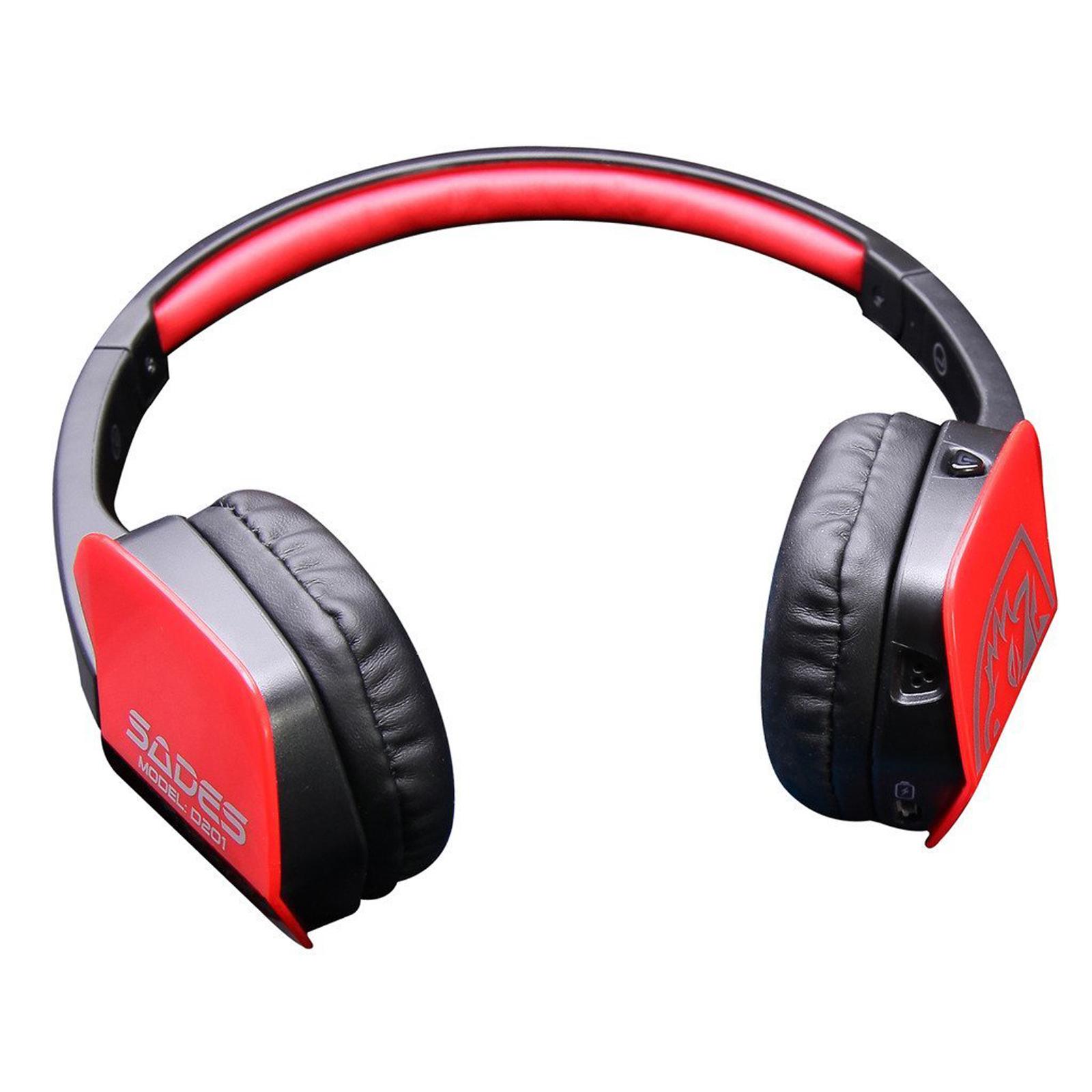 sades stereo wireless bluetooth gaming headset headphone. Black Bedroom Furniture Sets. Home Design Ideas
