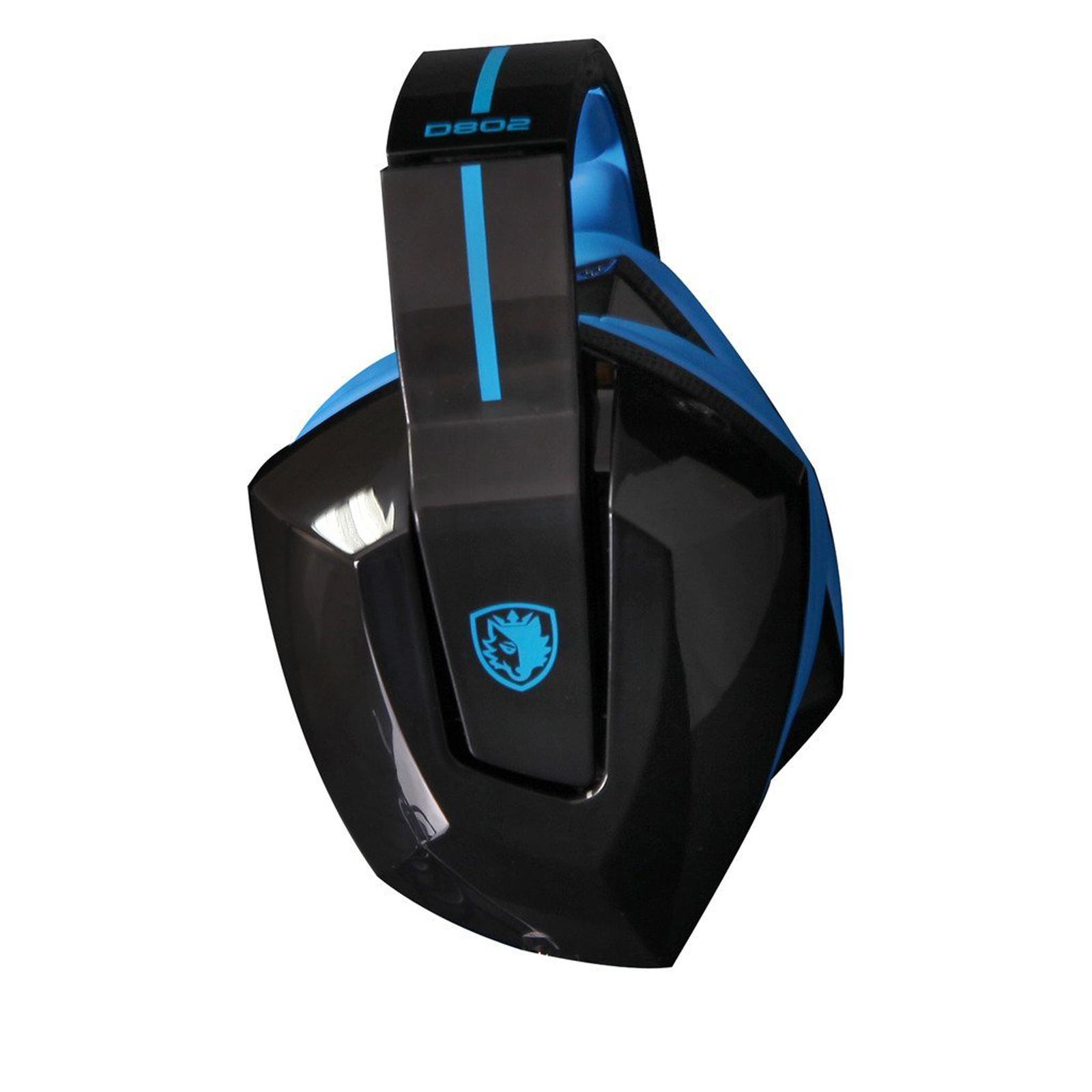Sades Vibration Bluetooth Wireless Gaming Headset Foldable Stereo Headphone D802