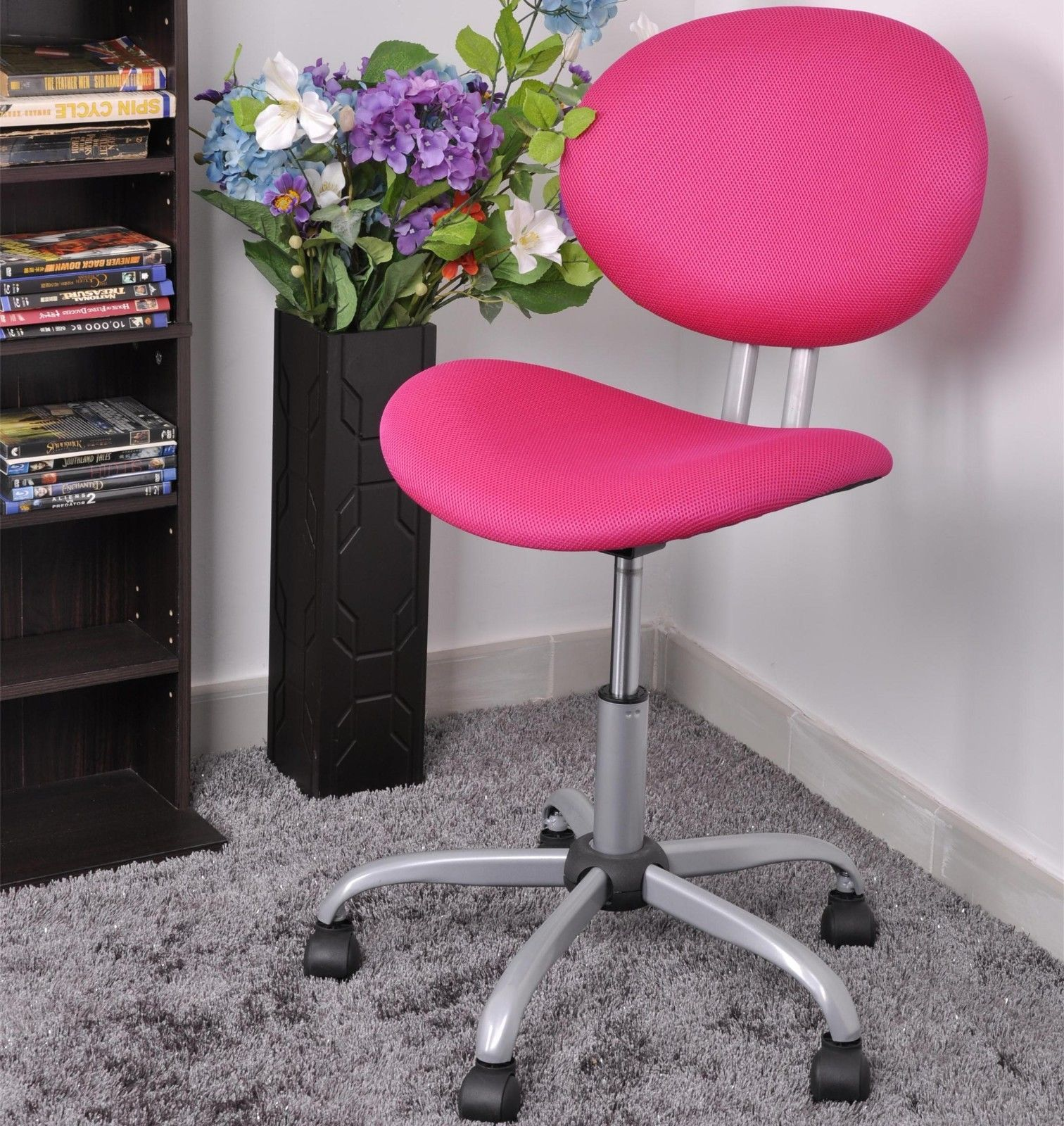 Pink Ergonomic Mesh Computer Office Chair Desk Midback Kid ...