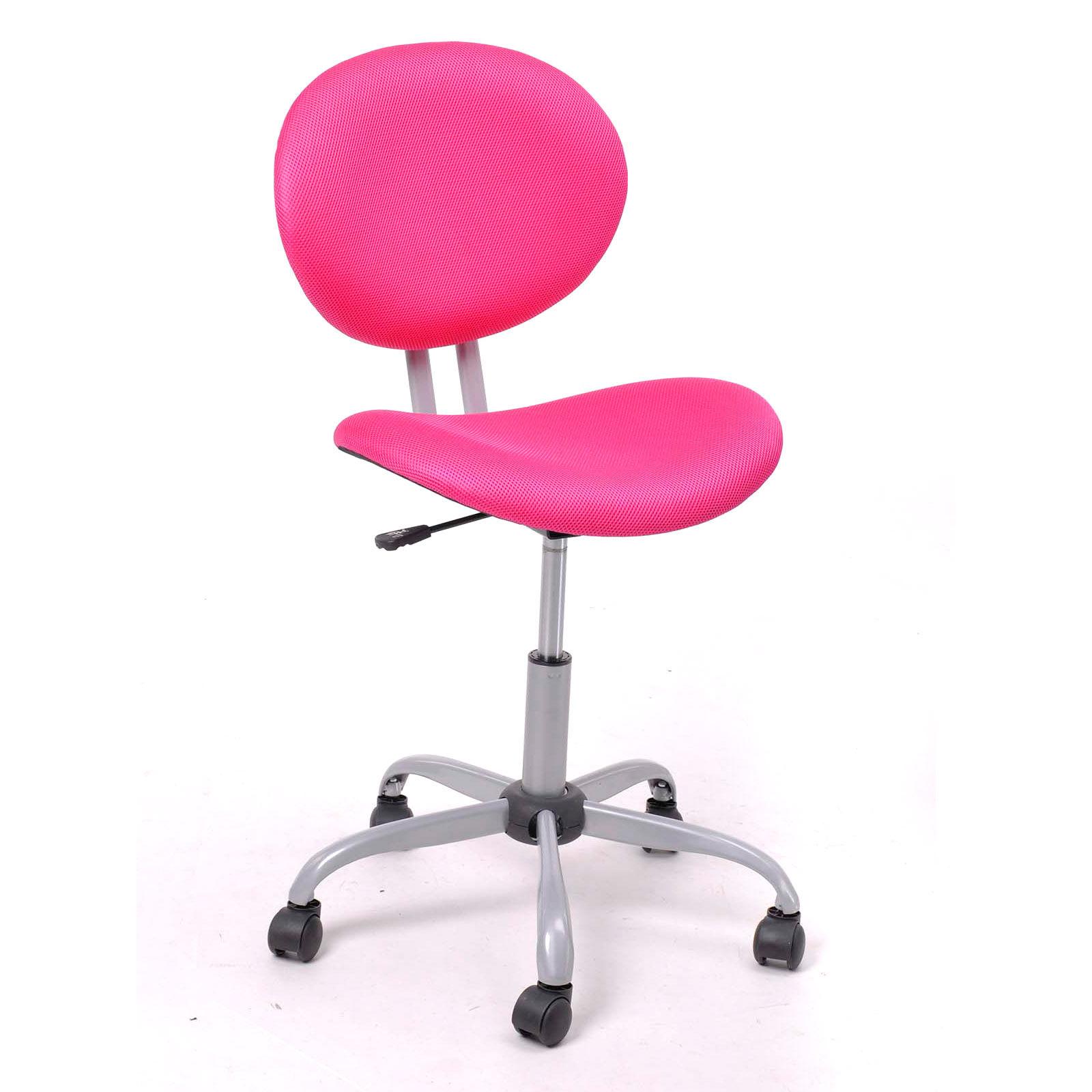 Pink Ergonomic Mesh puter fice Chair Desk Midback Kid Student