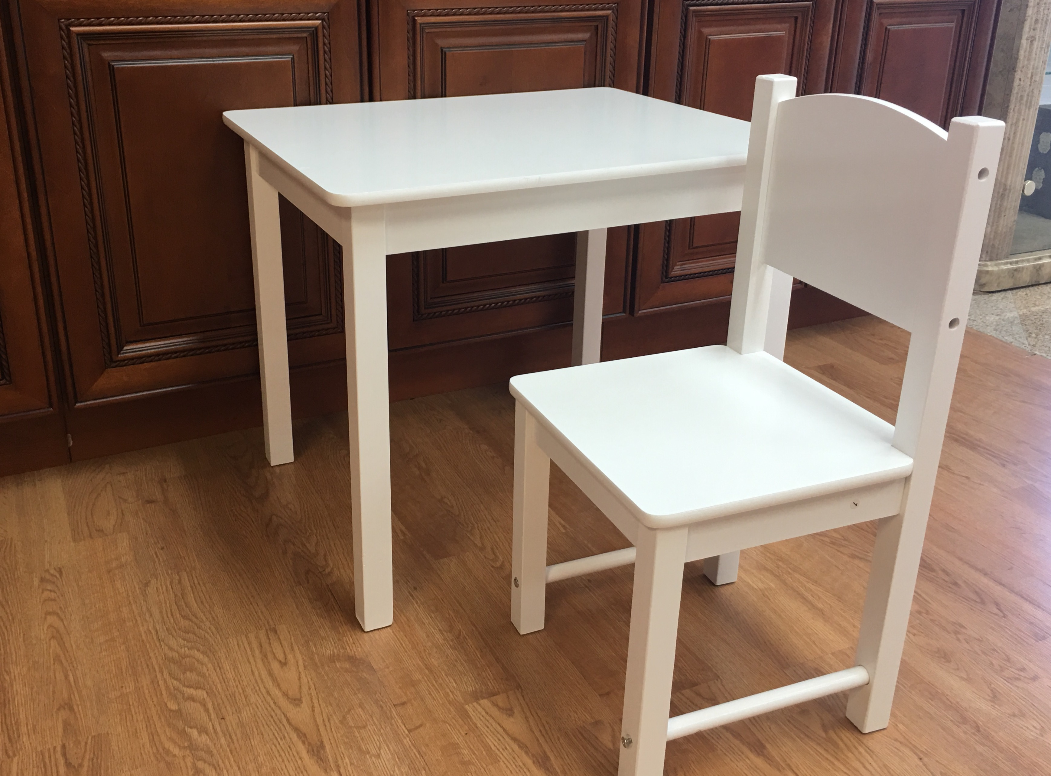 Wooden Kids Table and 2 Chairs Set Solid Hard Wood sturdy ...