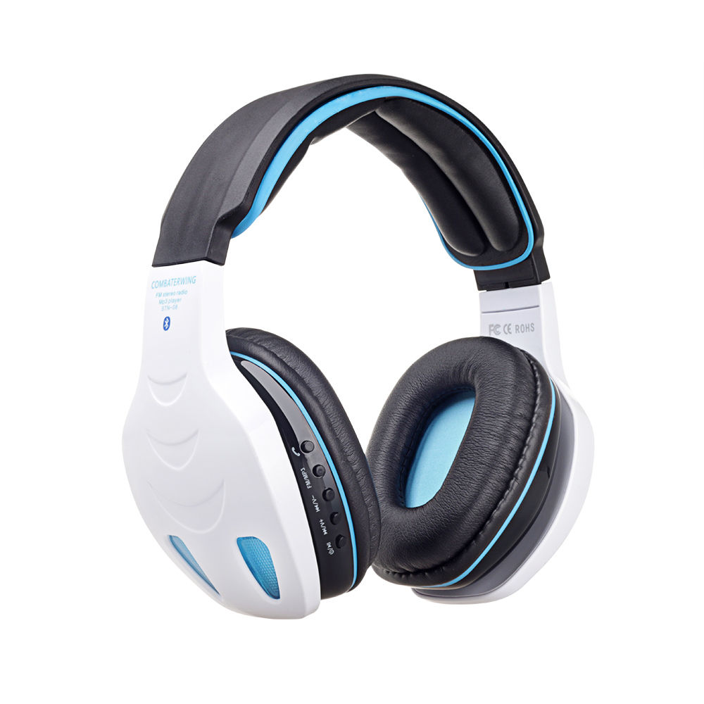 wireless bluetooth stereo headphone headset bass with mic for iphone samsung pc ebay. Black Bedroom Furniture Sets. Home Design Ideas