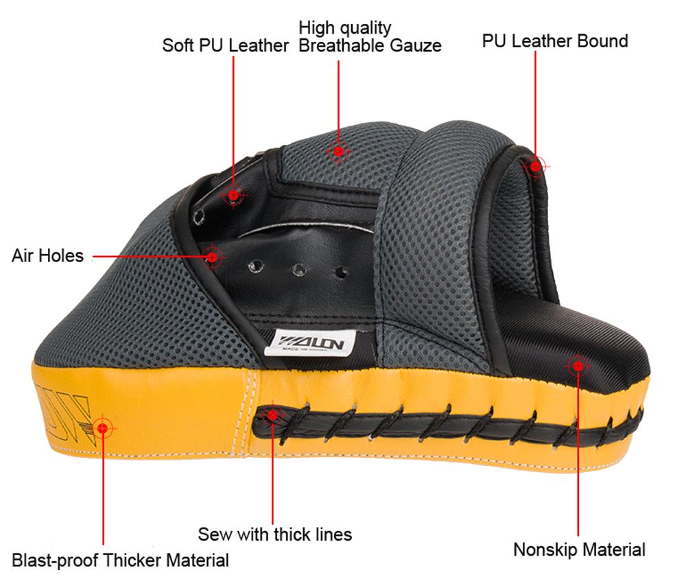 Mens leather gloves target - Thai Mma Focus Kick Boxing Punching Pad Mitt