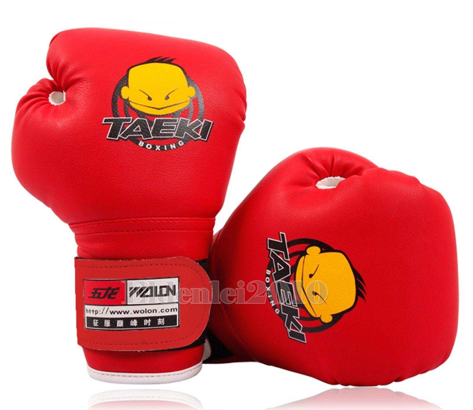 New PU Kids Children Cartoon Sparring dajn Boxing Gloves Training  4oz Age 5-10