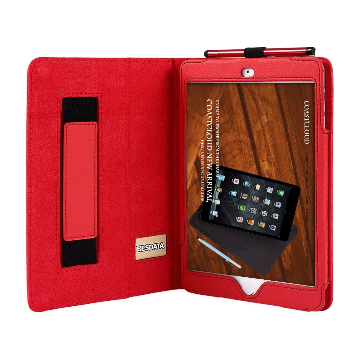 for ipad 2 3 4 5 mini 2 3 case smart cover with card slots. Black Bedroom Furniture Sets. Home Design Ideas