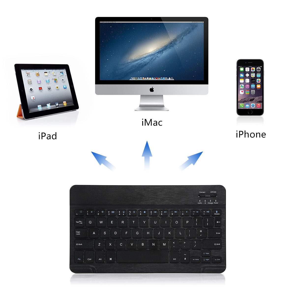Wireless Bluetooth Keyboard Case Cover Fit For IPad2 3 4
