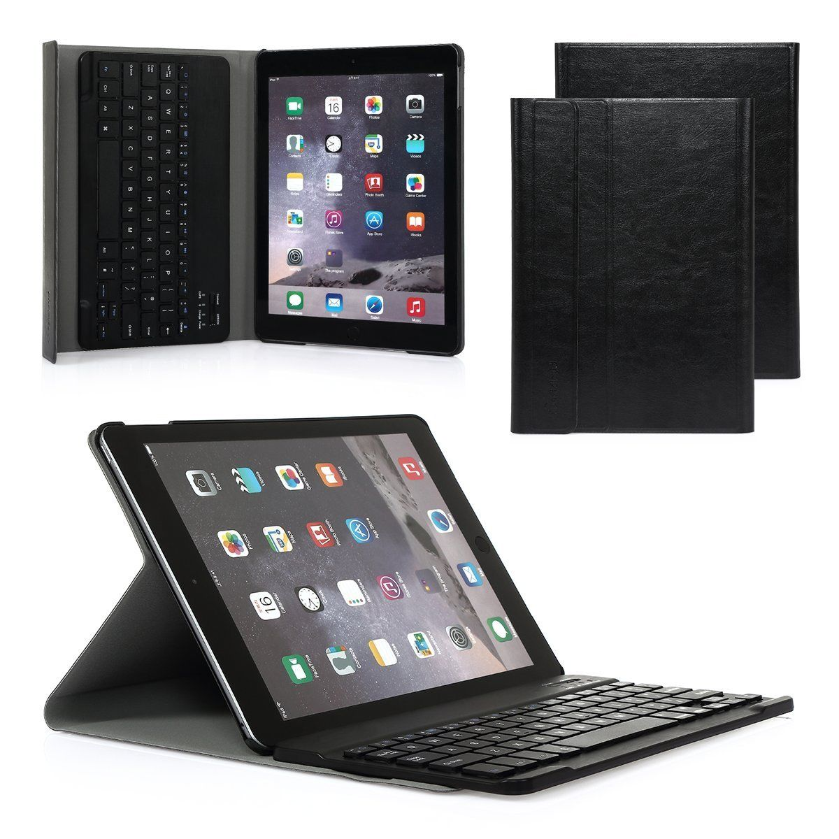 Magnetic Stand Case Cover Bluetooth Keyboard For IPad 4 3