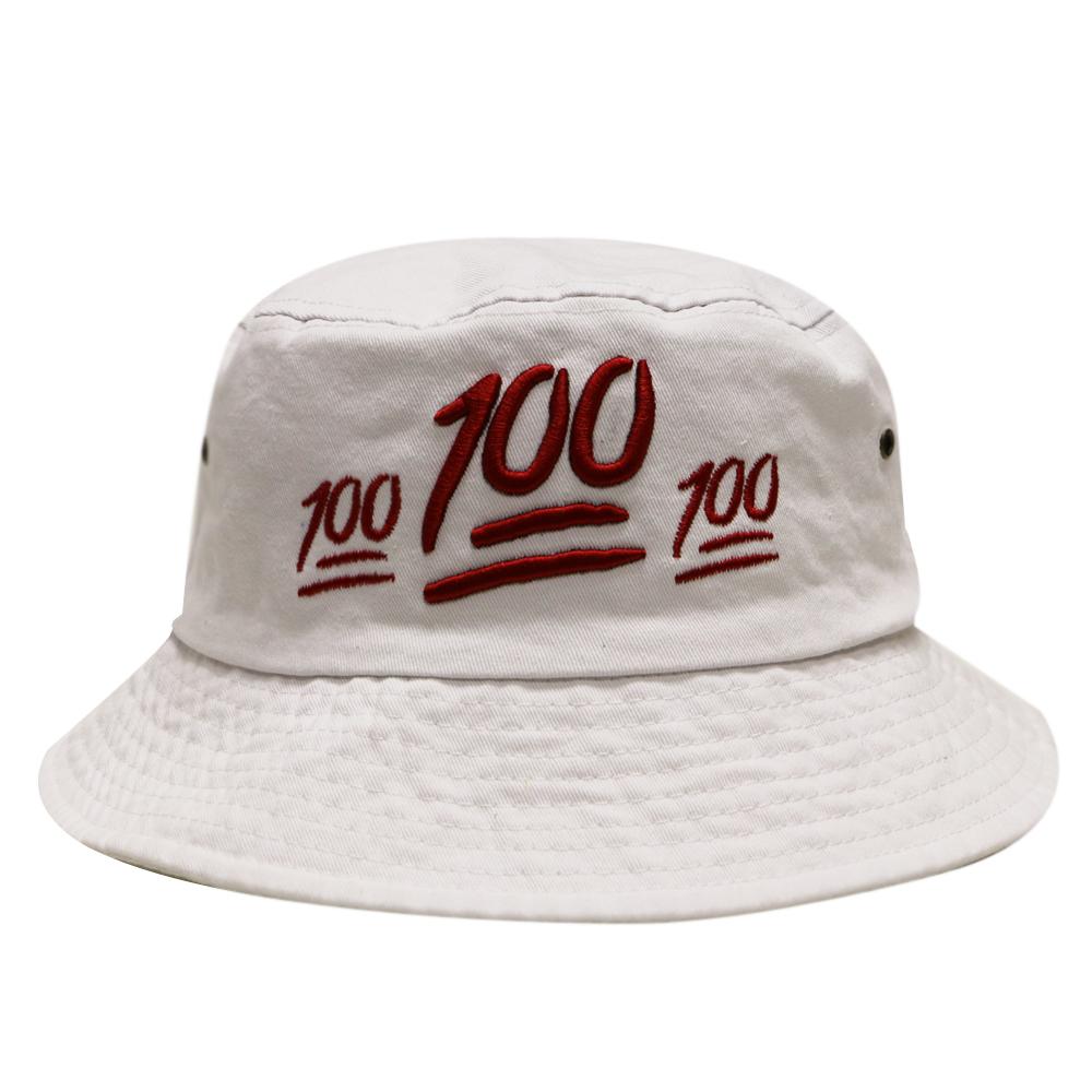 893f931d9ce City Hunter Cap USA City Hunter Cap USA City Hunter Emoji 100 Bucket Hats -  White