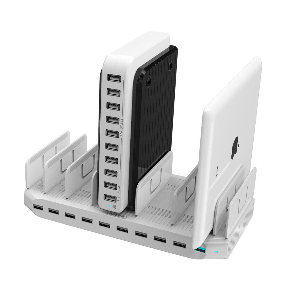 Unitek 60w Charging Station For Multi Device 10 Port Usb