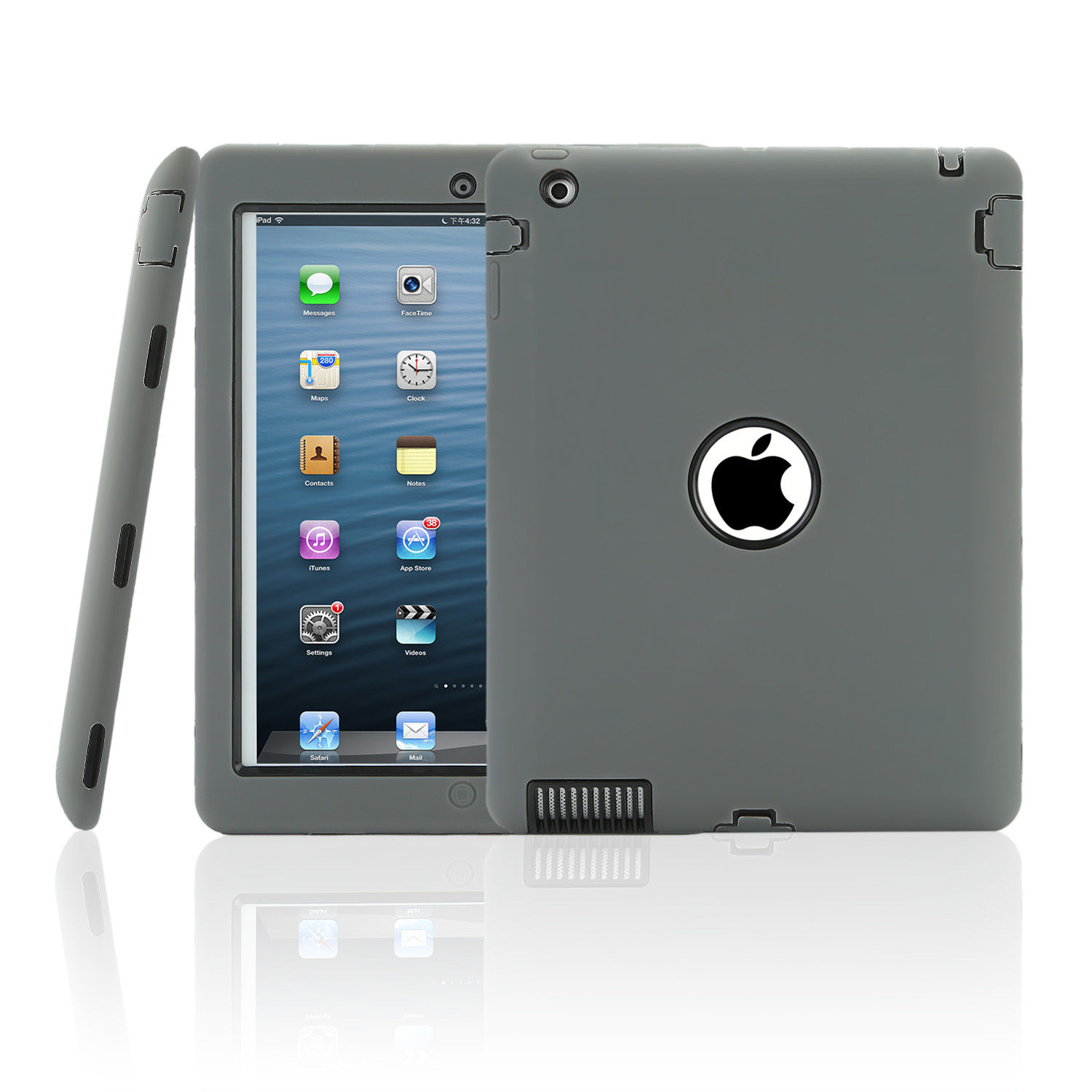 shockproof heavy duty hard case cover for apple ipad mini. Black Bedroom Furniture Sets. Home Design Ideas